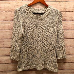 Liz Claiborne Gray Knit Half Sleeve Sweater sz. P